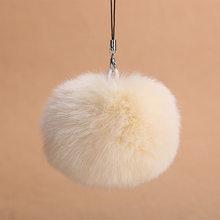 Pom pele Chaveiro Bola de Pêlo Falso Chaveiro Chaveiro Pele Porte Llaveros Chaveiro Para O Saco Clef Charme Regalos Navidad(China)