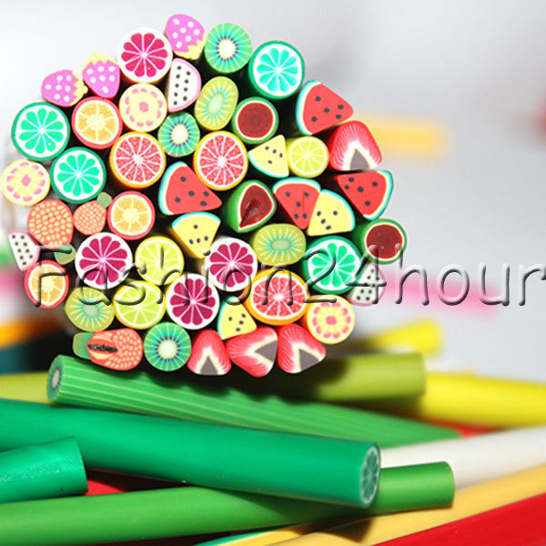 600pcs/lot Nail Art 3D Canes Fimo Rods Polymer Clay Tips DIY Decoration Art