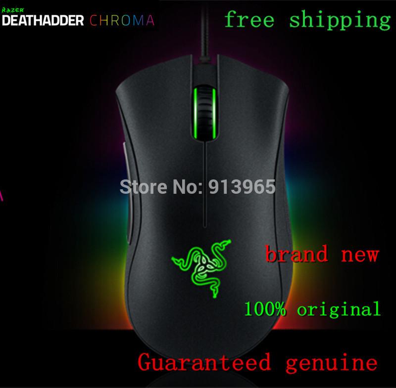 Brand NEW Origina Razer Deathadder Chroma Gaming Mouse,10,000dpi optical sensor, Brand New in Box, Free&Fast Shipping.(China (Mainland))