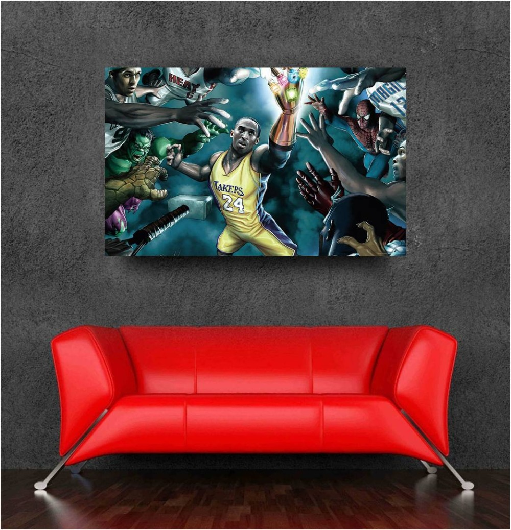 basketball decoration wall sticker marvel avengers home decor posters