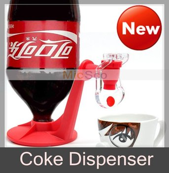 Coke Dispenser Party Drinking Soda Dispense Gadget Fridge Fizz Saver Dispenser Water Machine, 4pcs/lot, Free shipping