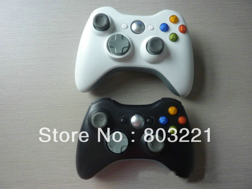 Free Shipping Wireless Controller wireless joystick for xBox 360 for computer black& white(China (Mainland))