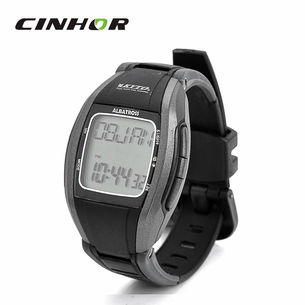 Stylish Digital Sports 5 3KHz Wireless Calorie Heart Rate Monitor Backlight Wrist Watch Black 1 x