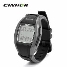 Estilo deportivo Digital 5.3 KHz Wireless calorías Monitor del ritmo cardíaco del contraluz reloj de pulsera – negro ( 1 x CR2032 )