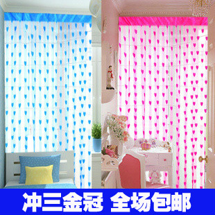 3729 heart curtain fashion heart curtain entranceway partition(China (Mainland))