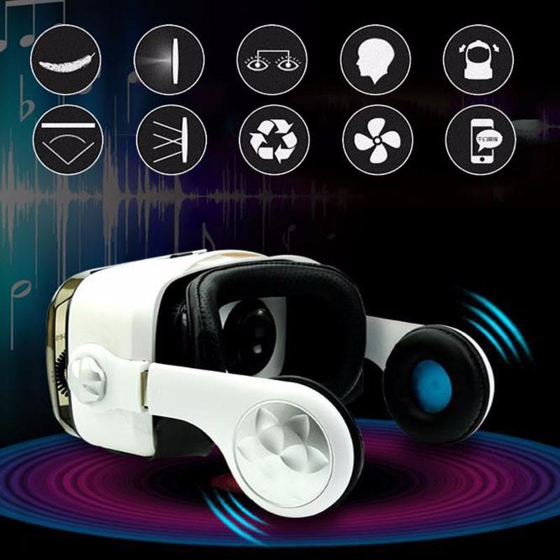 """ถูก OLแว่นตาเสมือนจริงVRกล่องแว่นตาชุดหูฟังกับหูฟังสำหรับ4.0-6.2 """"นิ้วโทรศัพท์สมาร์ท"""