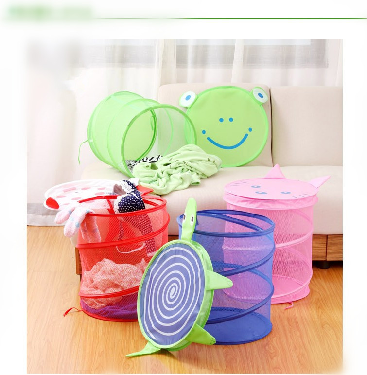 cute foldable cartoon zakka bathroom dirty clothes large laundry storage buckets bags kids toy. Black Bedroom Furniture Sets. Home Design Ideas