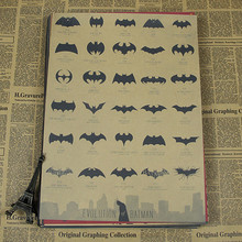 [  Sun86 ]   Evolution of  Batman Vintage Movie Poster Wall Paper Home Decor Cuadro Art   Painting Mix Order 42x30CM  H-143(China (Mainland))