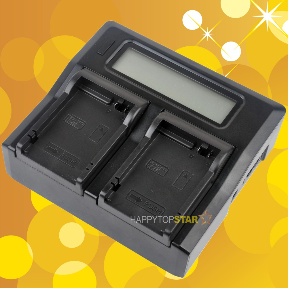 Dual Double Digital LCD Quick Charger for Canon LP-E8 LPE8 Battery LC-E8C LCE8C EOS 550D 600D 650D 700D 750D 760D(China (Mainland))