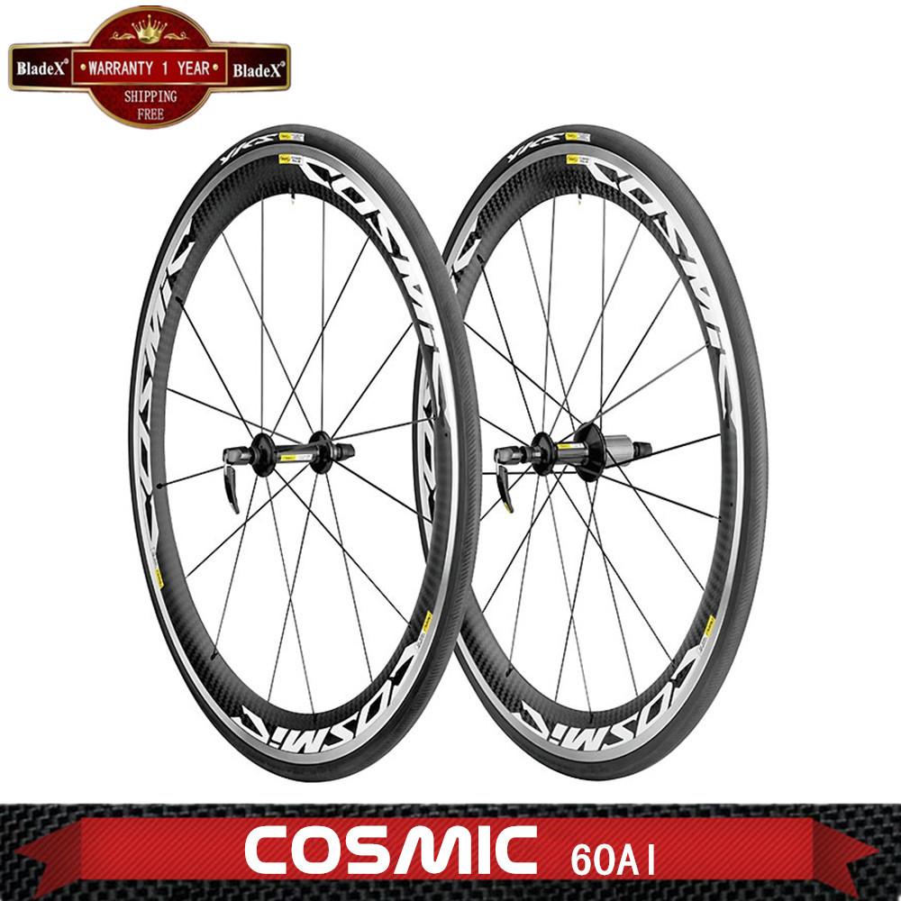 Road Carbon Wheels;Al Braking surface Clincher Bicycle Wheels;Depth 60mm;U shape wheelset;Size 700C ;Width 23/25mm;BIKE Wheelset(China (Mainland))