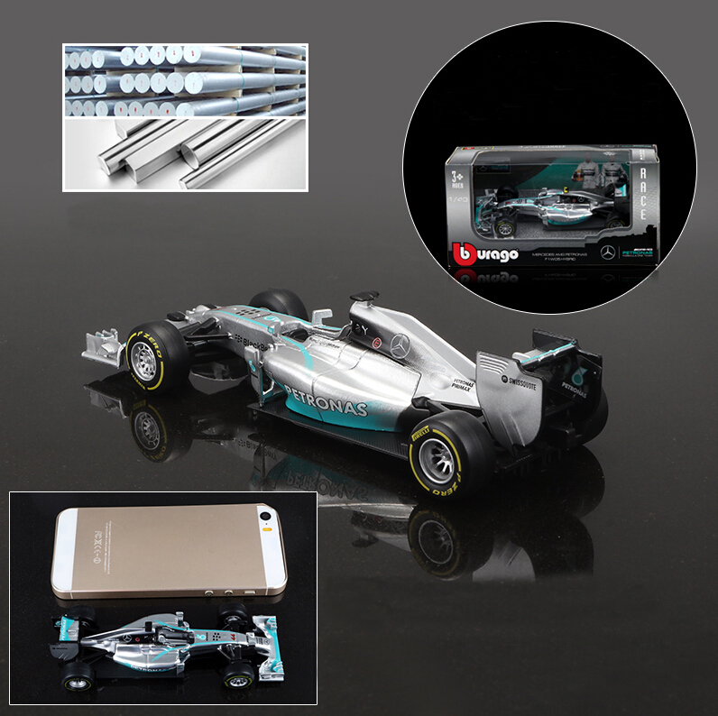 BBurago 1:43 F1 - AMG racing w05 hybrid #44 lewis hamilton #6 Nico Erik Rosberg(China (Mainland))