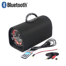5inch universal 12v 24v 220v bluetooth active subwoofer car subwoofer Peak power 60 W With remote control USB Interface(China (Mainland))