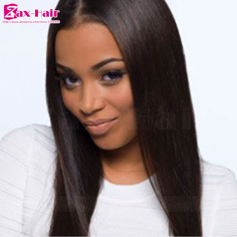 Фотография full lace wigs hot sale lace frontal 100% human hair customized peruvian virgin bleached knots baby hair for black women Grade