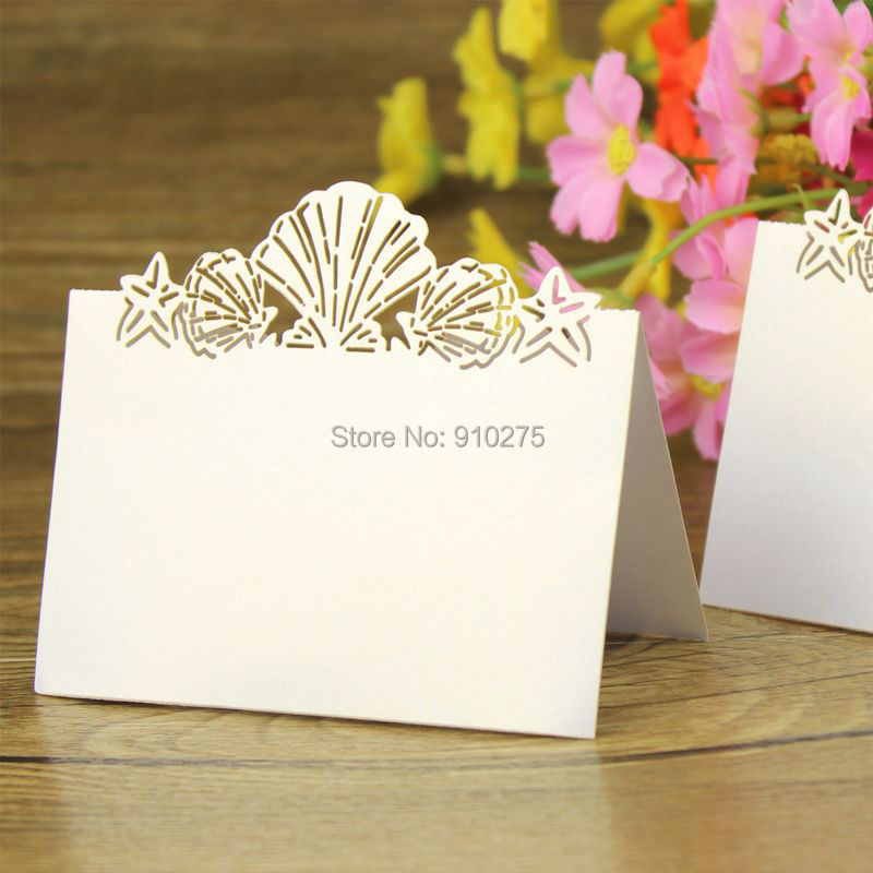 beach themed wedding name cards beach themed lovely shell name place cards starfish table