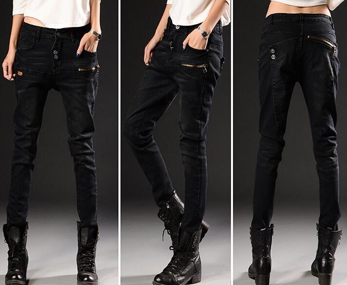 Скидки на 2015 Весенние джинсы суб брюки свободные большой размер женщин случайные штаны женские ноги дешевые одежда китай женщин, продающих Моды сексуальная