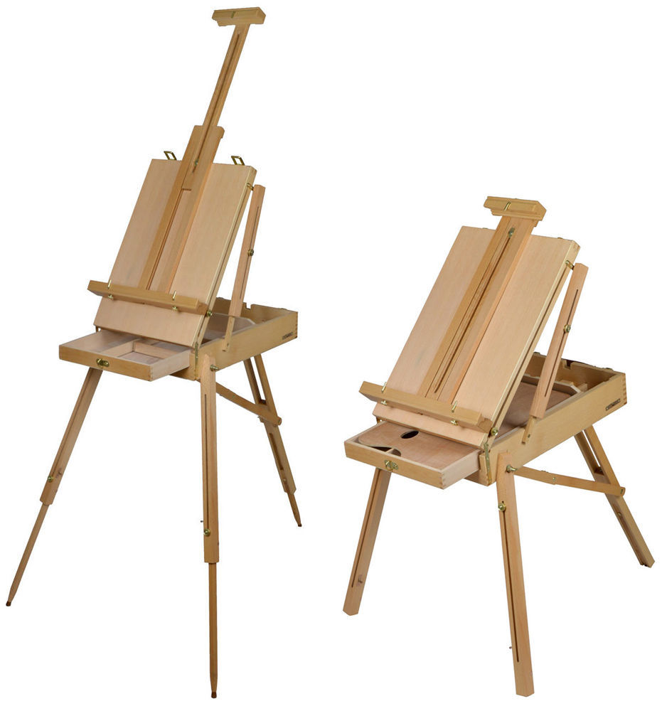 Folding art artist painter w pallet easel beech wooden - Caballete para pintar ...