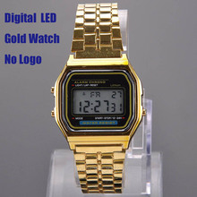Classic Gold Metal 80's Fashion Vintage Digital Display Retro style Watch PMHM102*50