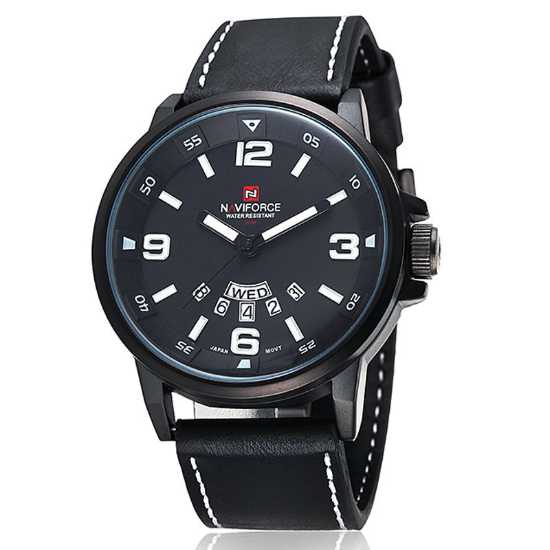 Luxury top brand NAVIFORCE leather band men watch relogio masculino quartz relojes watches buy direct from china NF 9028(China (Mainland))