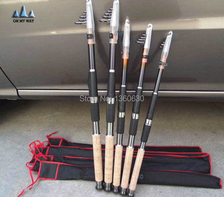 New 2015 6 sections 2.1M/2.4M/2.7M/3.0M Casting Rod Rock Carbon Spinning Fishing telescopic fishing rods fishing pole  44<br><br>Aliexpress