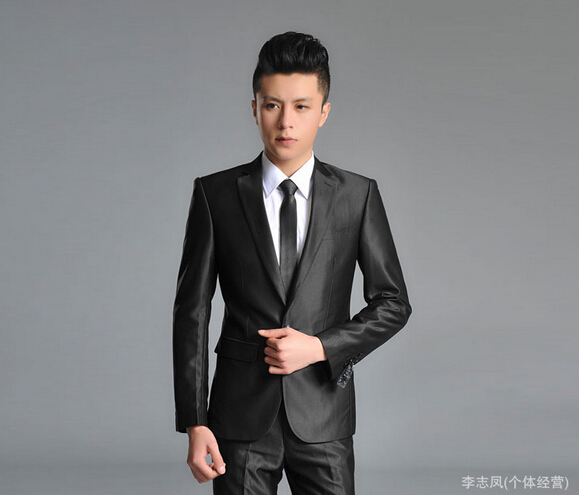 Korean version men's wedding suits Slim stylish groom groomsman dress men