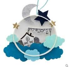Единорог маленький космический ветер подвеска-колокольчик войлочный набор Нетканая ткань ремесло DIY шитье Войлок ручной работы материал DIY...(China)