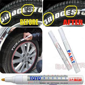 Free Shipping New 1pcs lot Universal White Car Motorcycle Whatproof Permanent Tyre Tire Tread Rubber Paint