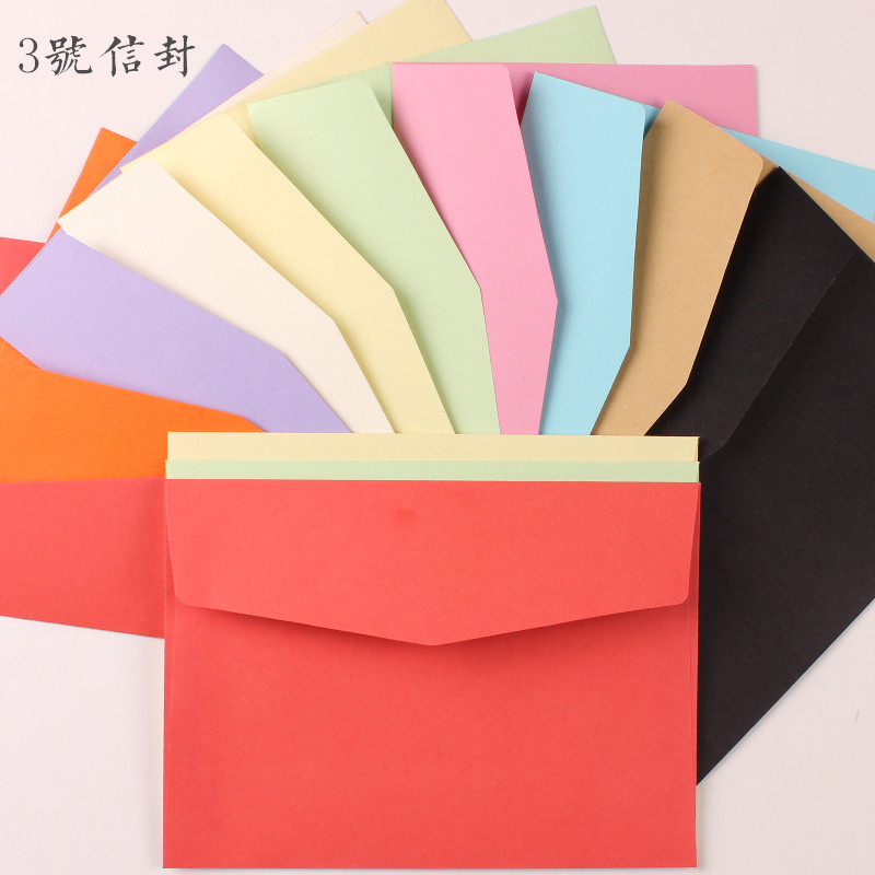 2016 Rushed Limited Ordinary Paper Gift Envelope Sobres Invitaciones Bodas Paper Envelope Series Color Solid Blank Postcard Bx(China (Mainland))