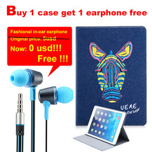 Buy 1 case get 1 more earphone free Denim cover for iPad air 1 case smart cover for iPad 5 iPad air 1 magnetic stand(China (Mainland))