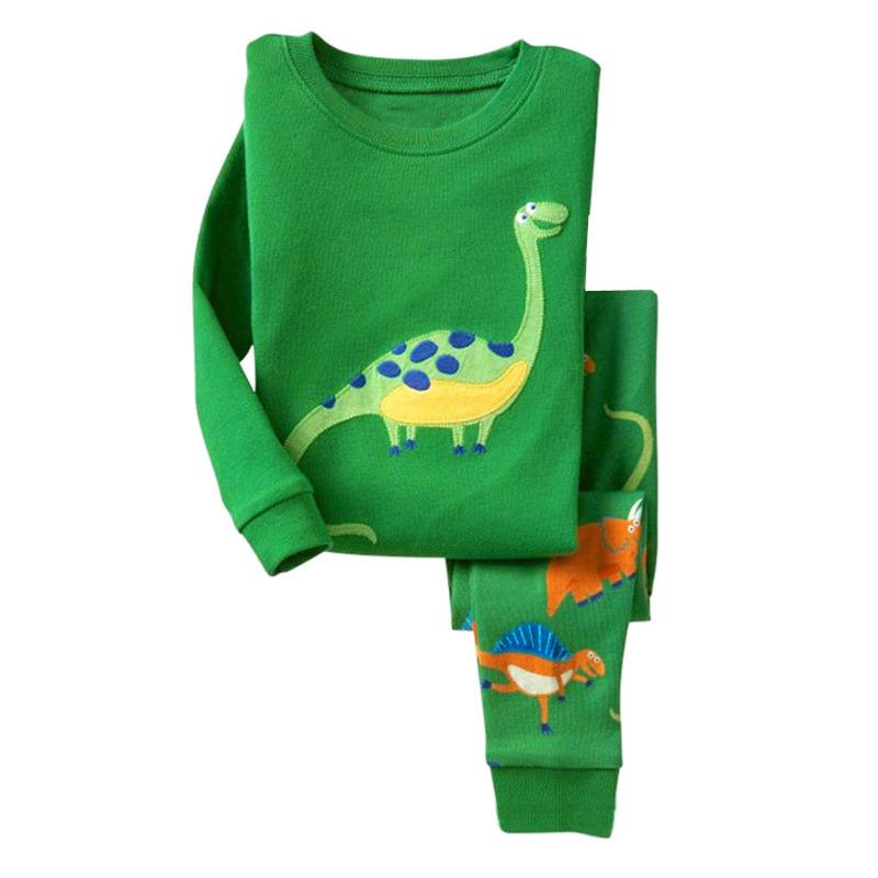 Baby Boy Girl Dinosaur Pj's Clothes Pyjamas Set Kid Nightwear Sleepwear Homewear