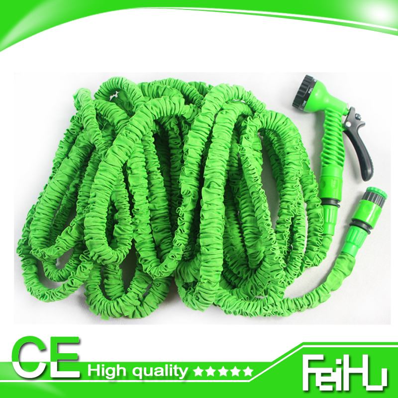 New Expandable Watering Hoses Soft Tuyaux Arrosage Rubber Hose For Watering & Irrigation Manguera Jardin with Water Spray Gun(China (Mainland))