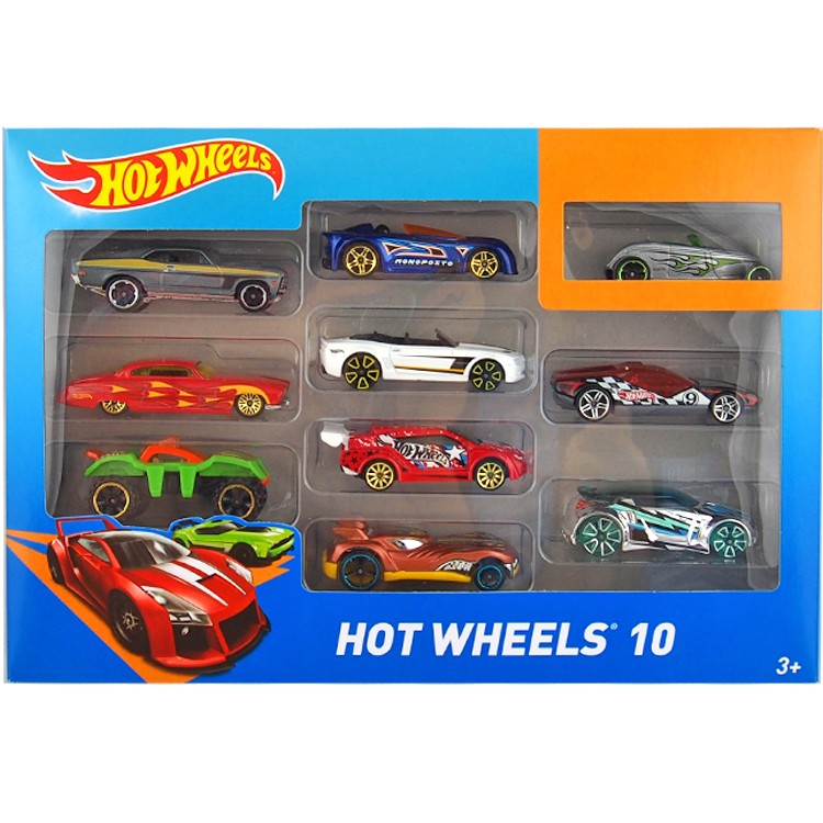 HotWheels Die-casts 10-PACK/54886-19/Toy/Mannequin Automobile