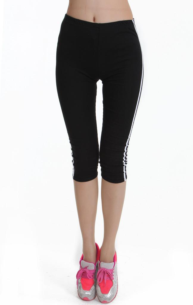 Large Elasticity Women Plus Size Leggings Rounuan Cotton ...