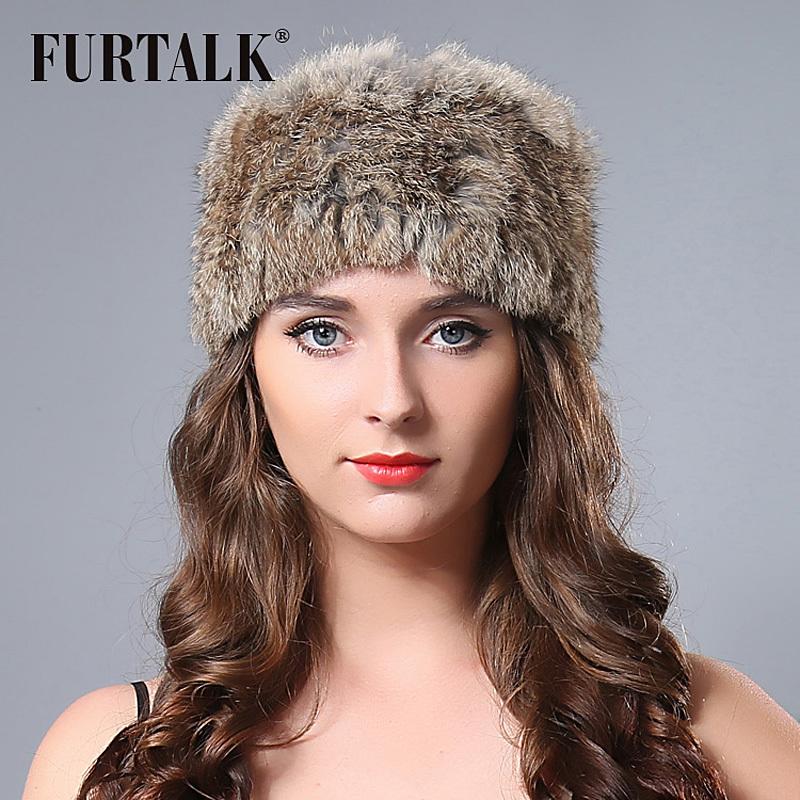 2015 new ski outdoor fur headband 44*12cm Russian winter fur hats for women/men(China (Mainland))