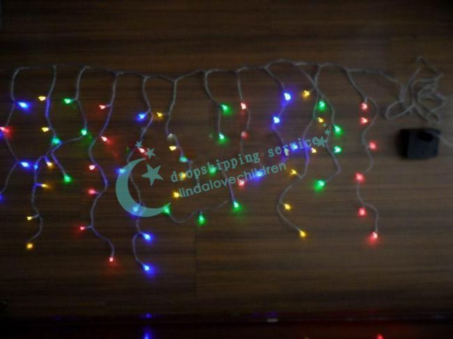 LED Light Control Solar Lights Solar Decorative Lights Christmas 4 Colors 80LED Outdoor Drop Shipping/2016 New(China (Mainland))