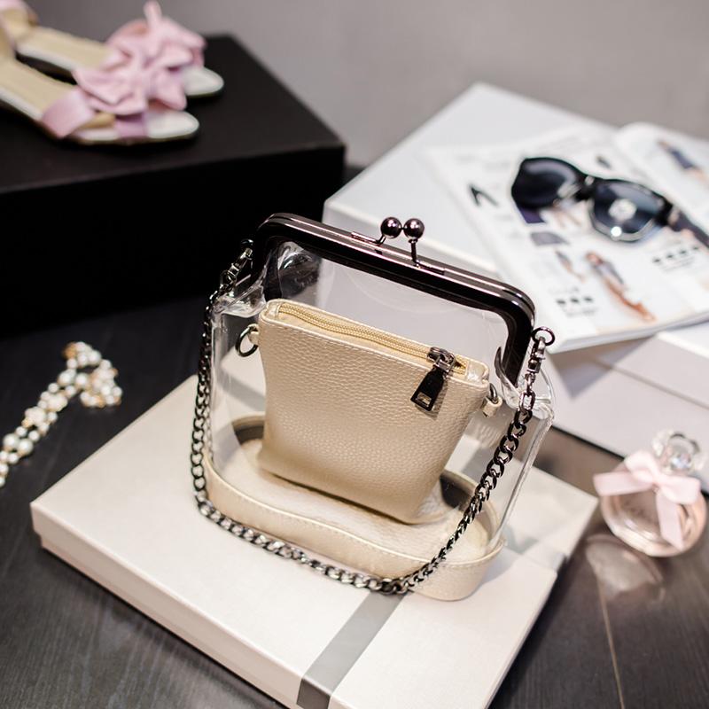 transparent fashion Shoulder Bags chain shoulder bag ladies luxury bags handbags women famous brands logo 2015 evening cc<br><br>Aliexpress