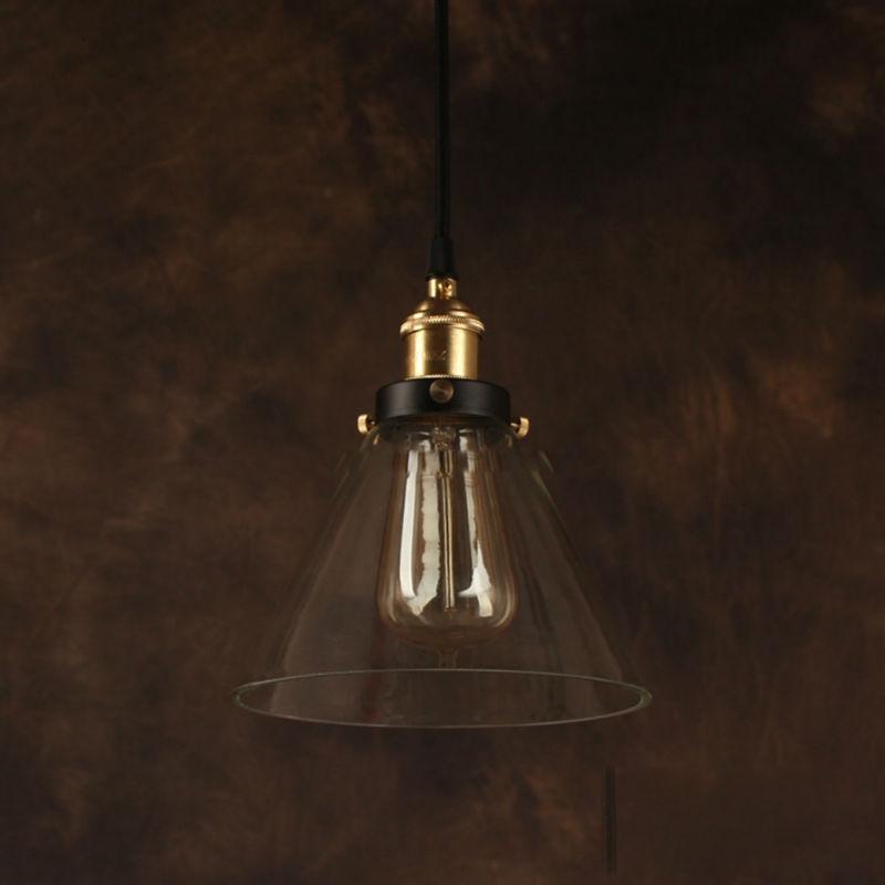 Industrial Bell Pendant Light: Vintage Pendant Light Industrial Edison Lamp American