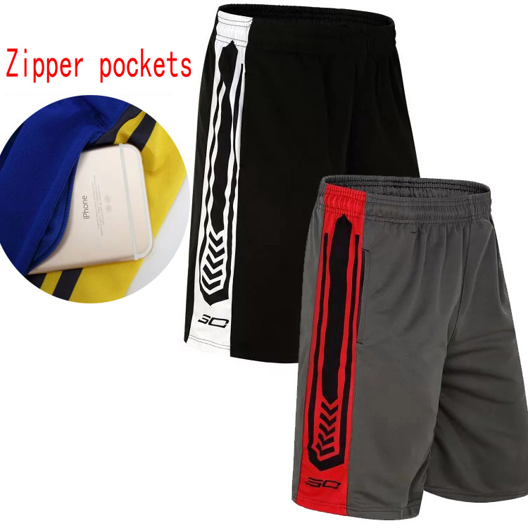 Sport Gym Basketball baggy male Short Loose Running Men's Shorts Sport shorts Men Basketball shorts with Zip pockets(China (Mainland))