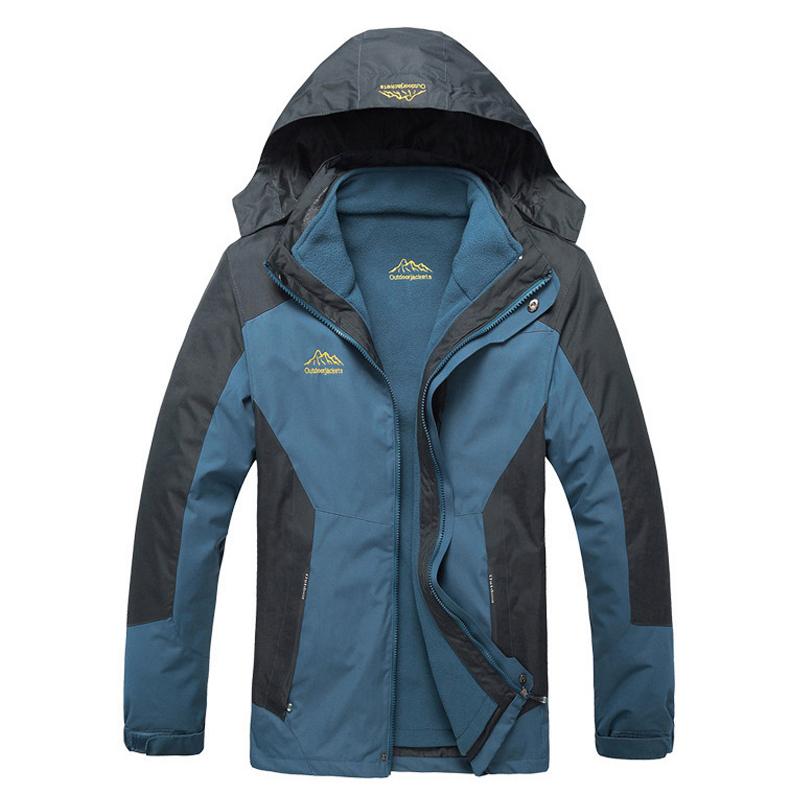 Men Women thermal jacket Outdoor Windbreaker Velvet coats men Deep Winter Hooded Fleece Camping Hiking Jackets three-piece - jiajia Co., Ltd. store