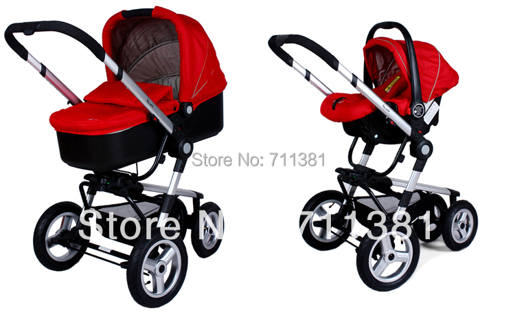 Red Car Seat And Stroller - Seat