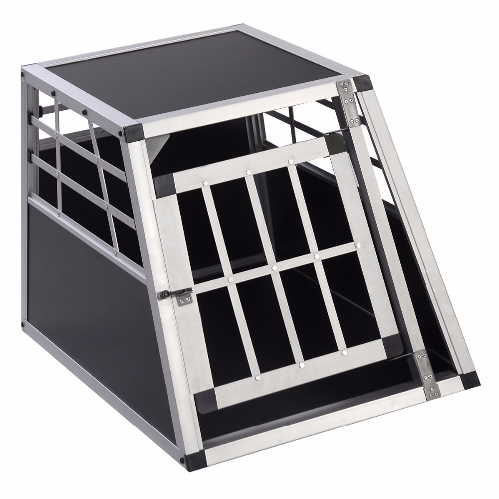 Goplus Aluminum Dog Transport Box Dog Crate Kennel Pet Playpen Cage w/Lock 28''H Free Shipping PS5789(China (Mainland))