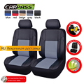 CAR PASS 6PCS PU Leather Car Seat Covers Front Seat Covers Car Covers car covers Fit