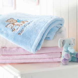 Baby blankets baby blanket baby blanket imitation Raschel blankets spring and autumn and winter thicken paragraph