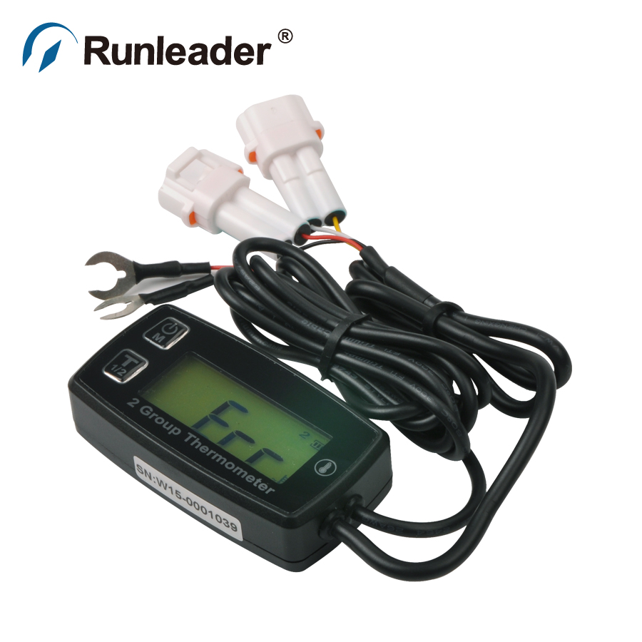 Digital LCD TS002 PT100 -20 +300 TEMP meter temperature thermometer with 2 temp sensor for forklift truck tractor ATV marine oil(China (Mainland))
