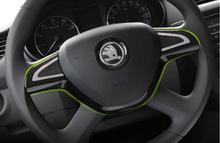 Auto steering wheel ring,interior decoration trim for skoda octavia 2014 superb 2014,yeti, rapid (China (Mainland))