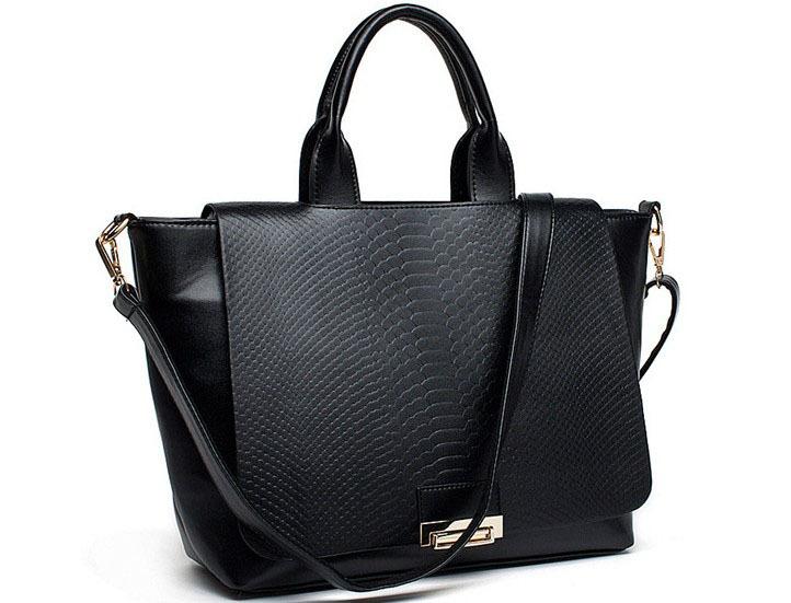 HOT SALE!! Woman bag New Fashion Snakeskin Stria Shoulder Bag Messenger Bags Designer High Quality Handbags(China (Mainland))