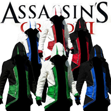 Assassins Creed Jacket - Assassins Creed III Conner Kenway Cosplay Hoodie 6 Colors Mens Assassins Creed Hoodies Costume(China (Mainland))