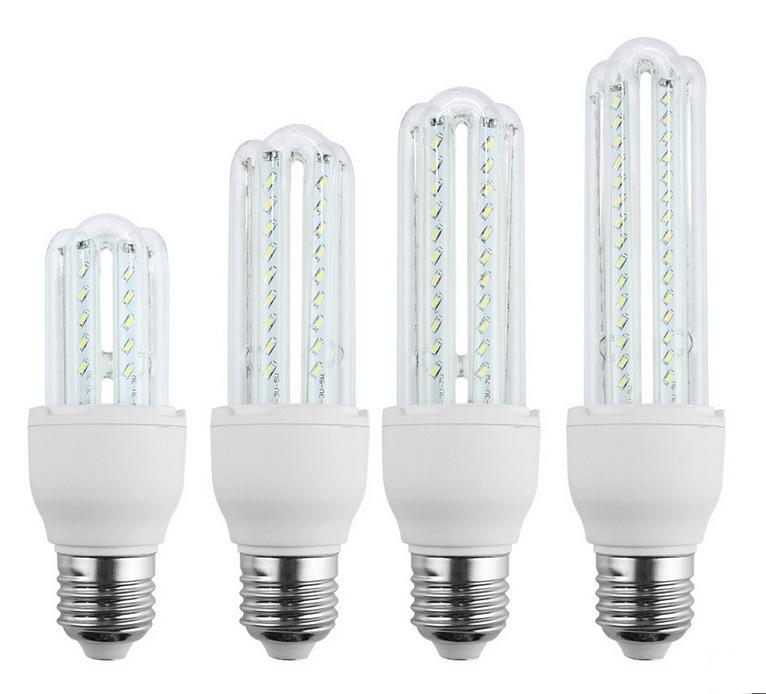 Hot ! 3U 4U CFL Ultra Bright 3W 5W 7W 9W 12W 16W 24W LED lamp e27 110V Energy Saving LED Corn Bulb E26 220V led light for home(China (Mainland))
