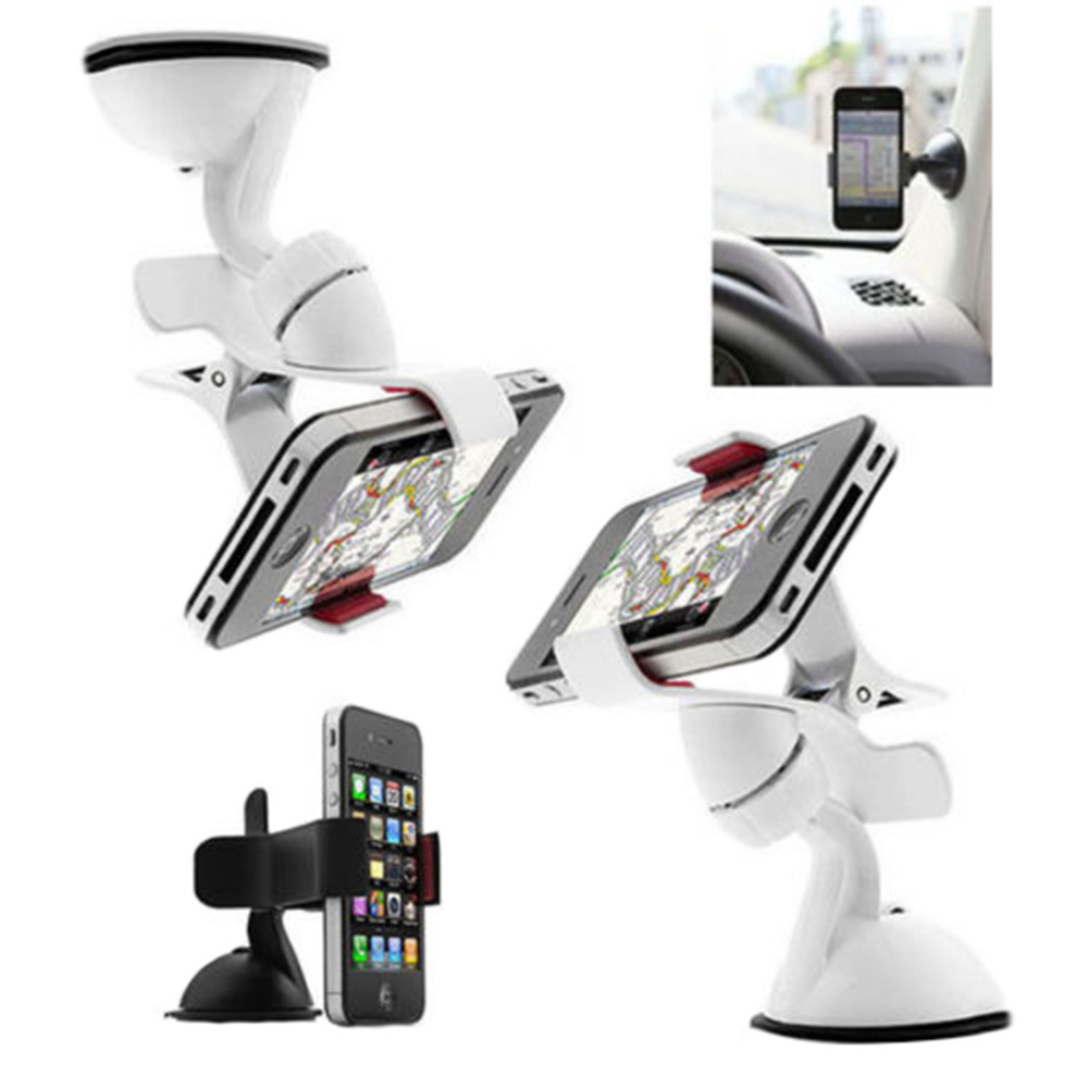 Mini Universal 360 degree cell Phone Holder Car Phone holder for Car Gps plastic phone stand car for iPhone Samsung Xiaomi HTC(China (Mainland))
