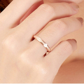 Top Quality Rose Gold Plated Titanium Steel Simple Frosting Fine 2mm Depth Cheap Women Ring US