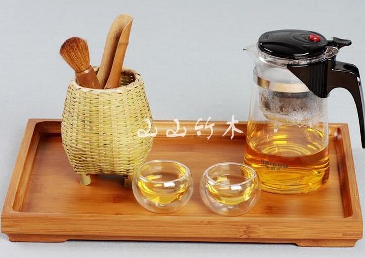 Гаджет  Pallet kung fu tea bamboo saucer fruit plate tea tray bandeja decorativa wooden tray decoration vintage tabuleiro 28*19cm None Дом и Сад